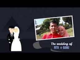 membuat video wedding invitation wedding invitation video powerpoint animation banu youtube