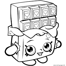 shopkins season 1 chocolate cheeky coloring pages printable