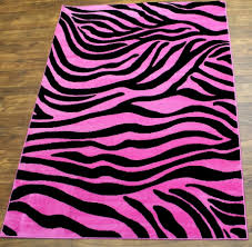 Pink And Black Rugs Interesting Modern Zebra Print Rug Design Ideas Brown Laminated