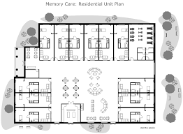residential home floor plans residential nursing home unit plan