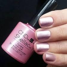 cnd shellac tundra dusty rose metallic uv gel nail power