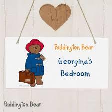 personalised paddington bear wooden sign