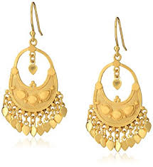 gold chandelier earrings satya jewelry classics gold plated petal chandelier