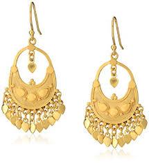 gold chandelier earrings satya jewelry classics gold plated petal chandelier