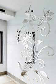 diy spring nature single elegant flower wall stickers for home