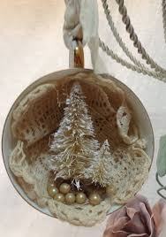 ornament vintage shabby chic tea cup altered