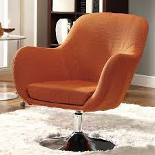 Swivel Accent Chair Orange Swivel Accent Chair Coaster Furniture Furniturepick