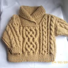 liam cross neck cable sweater for baby or toddler pdf knitting