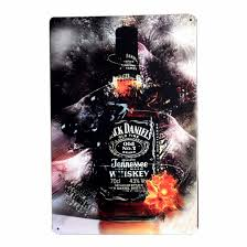 jack daniels home decor whisky jack daniels bar pub restaurant metal tin plaque retro