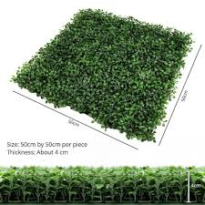 uland 6 piece artificial boxwood hedges privacy fence screen for