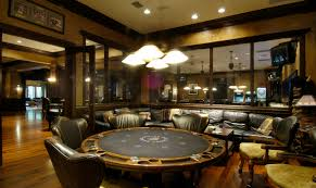 a perfect guys retreat a luxury poker room within a rec room