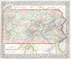 State Map Of Pennsylvania by File 1867 Mitchell Map Of Pennsylvania Geographicus Pa