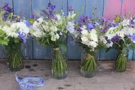 wedding flowers july blue and white flowers for a west country wedding the flower
