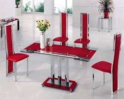 Glass Extendable Dining Table And 6 Chairs Glass Dining Table With 6 Chairs Dining Room Ideas
