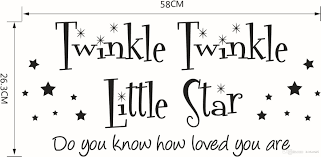 twinkle little star wall stickers the sitting room bedroom name twinkle little star wall stickers material pvc function mothproof mildew anti fouling beautification adornment moistureproof specification