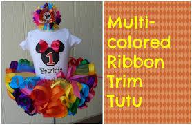 ribbon tutu how to make a multicolored ribbon trim tutu by just add a bow