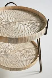 Rattan Side Table Coiled Rattan Side Table Anthropologie