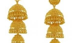 gold jhumka earrings design with price gold jhumka designs with weight and price gold indian jewelry