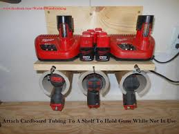 Charging Station Shelf Make A Battery Charging Station And Gun Holder For Your Garage