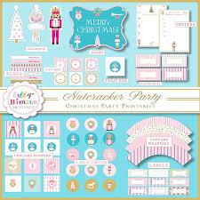 party printable christmas nutcracker party diy cupcake