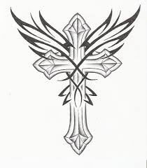 best 25 cross with wings tattoo ideas on pinterest cross with
