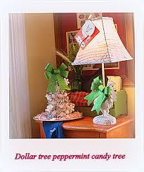 a sparkly peppermint christmas tree dollar tree craft debbiedoos