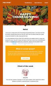 thanksgiving email format 7 templates de newsletter html gratuits