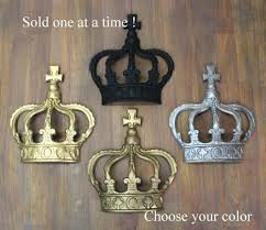King And Queen Wall Decor Amazon Com Gold Silver Rust King Crown Or Queen Prince Wall Art