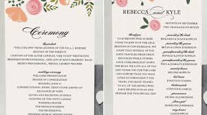 wedding program wording wedding ceremony program wording inspiration diy wedding 12652