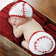 baby boy photo props aliexpress buy baseball white handmade baby crochet hat kids