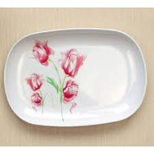 creative character plate dish rectangle plastic tray 27cm length
