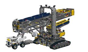 lego technic bucket wheel excavator bwe bricksafe