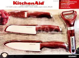 Ceramic Kitchen Knives Set by Kitchenaid Ceramic Knife Set Chef U0027s Blade Peeler Kitchen Aid