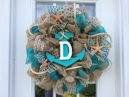 simple beach themed wreaths in summer best house design