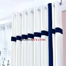 White Curtains With Blue Trim White Curtains With Navy Trim White Curtains With Blue Trim