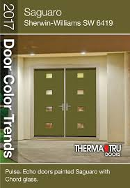 Sherwin Williams Pussywillow by Therma Tru Smooth Star Fiberglass Door With Sherwin Williams