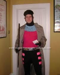 Men Black Halloween Costume Coolest Homemade Gambit Men Costume Costumes
