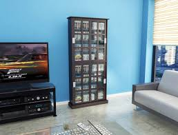 Media Storage Cabinet Windowpane Media Cabinet