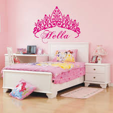 popular princess bedroom decorating buy cheap princess bedroom free shipping personalized name custom cute crown princess room wall stickers princess bedroom decoration for