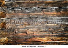 wooden texture of log cabin with walls to both sides stock