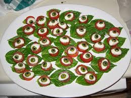 eyeball caprese prepared for a halloween party of course u2026 flickr