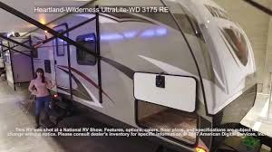 wilderness travel trailer floor plan heartland wilderness ultralite wd 3175 re youtube