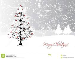 christmas card design with winter tree and stock vector image