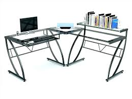 L Shaped Glass Desks L Glass Desk L Shaped Glass Desk Glass Computer Desk L Shaped