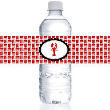 personalized crawfish trays personalized water bottle labels for crawfish boil two