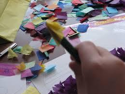 tissue paper craft for kids art is medicine