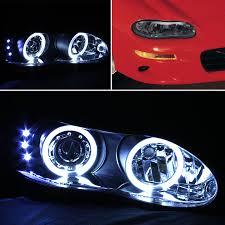 02 camaro headlights for led bumper fog smoked 98 02 camaro halo projector sm