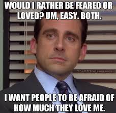 Meme Love Quotes - the office isms michael scott memes