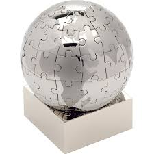 Executive Desk Toy 25 Chrome Puzzle Globe Executive Desk Toy Corporate Gifts
