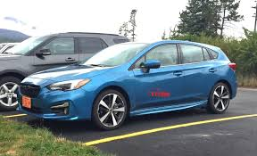 2016 subaru impreza hatchback blue spied in the wild 2017 subaru impreza hatchback the fast lane car